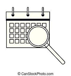 スケジュール, flipchart, 黒, カレンダー, 白, 漫画, アイコン