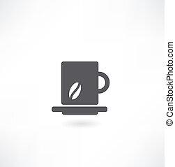 スケッチ, カップ, コーヒー, 定型, ベクトル, アイコン