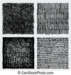 スケッチ, グランジ, イラスト, 手, ベクトル, 企て, 引かれる, 荒い, texture.