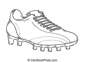 スケッチ, フットボールの ブーツ