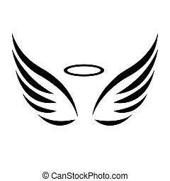 スケッチ, ベクトル, 翼, 天使