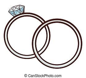 スケッチ, 債券, 結婚式, 単純である