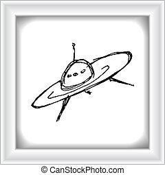 スケッチ, 図画, 宇宙船