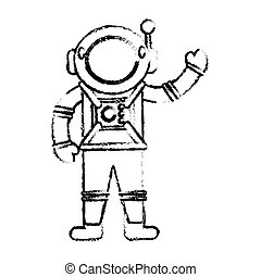 スケッチ, 宇宙飛行士, 宇宙人, スーツ