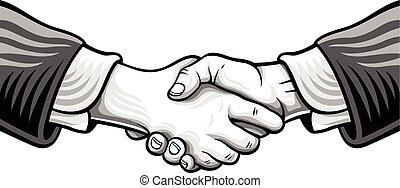 スケッチ, 握手