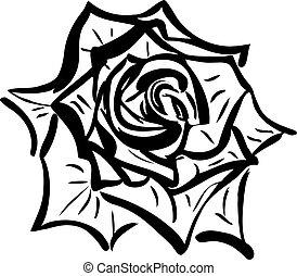 スケッチ, 花2, rose(1).jpg, ソーダ, 似ていること