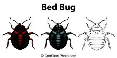 スケッチ, 虫, ベッド, 3