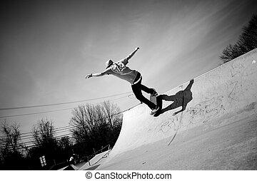 スケートボード坂路