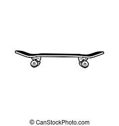 スケートボード, ベクトル, イラスト
