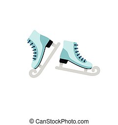 スケート, アイコン, ベクトル, イラスト, 白い背景