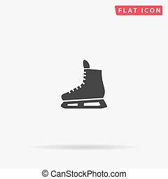スケート, アイコン, ベクトル, 氷, 平ら