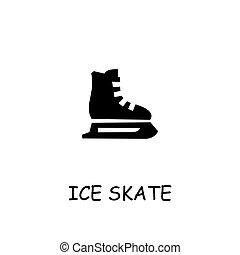 スケート, アイコン, 平ら, 氷, ベクトル