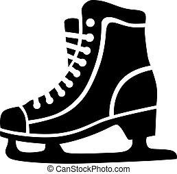 スケート, アイススケートをする
