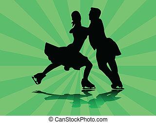 スケート, イラスト, 数字