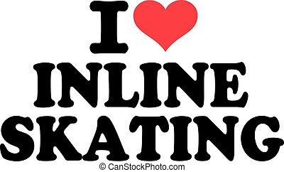 スケート, インラインである, 愛