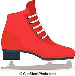 スケート, クラシック, スタイル, 平ら, アイコン, 氷