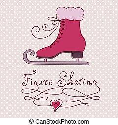 スケート, グリーティングカード, 型