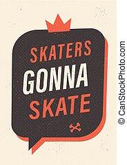 スケート, スケーター, gonna