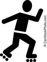 スケート, ローラー, pictogram