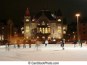 スケート, 中に, ヘルシンキ