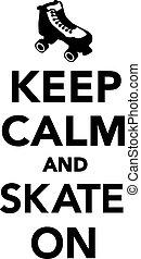 スケート, 冷静, たくわえ