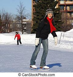 スケート, 女