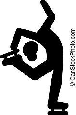 スケート, 数字, pictogram