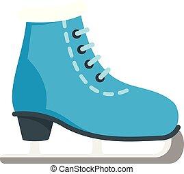 スケート, 氷, スタイル, 平ら, アイコン