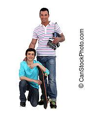 スケート, 父, 息子