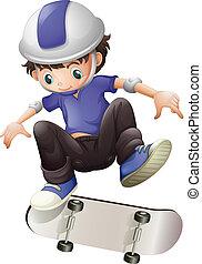 スケート, 男の子, 若い