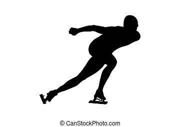 スケート, 運動選手, スピード, 人