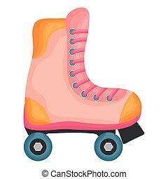 スケート, 隔離された, ローラー, アイコン