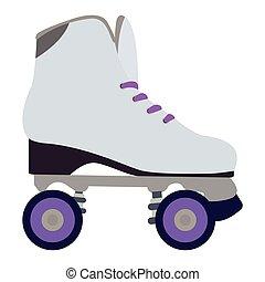 スケート, 隔離された, ローラー