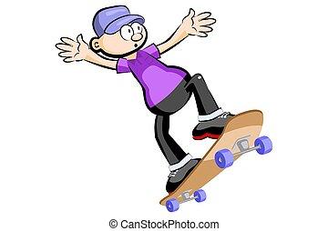 スケート, 隔離された, 子供