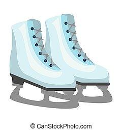 スケート, 隔離された, 氷, アイコン