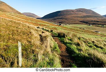 スコットランド, 湾, hoy, 和解, 田園, orkney, 島, 島, rackwick