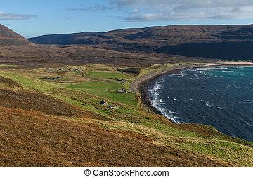 スコットランド, 湾, hoy, orkney, 島, 島, rackwick