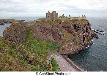 スコットランド, dunnottar, イギリス, 城