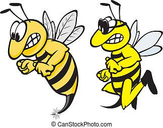 スズメバチ, 怒る