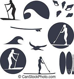 スタイル, ∥あるいは∥, 記事, テンプレート, 立ち上がりなさい, あなたの, かいで漕ぐ, 印刷, イラスト, ...
