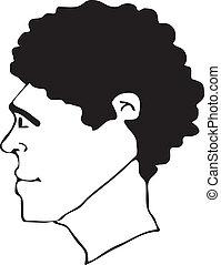 スタイル, アフロの 毛