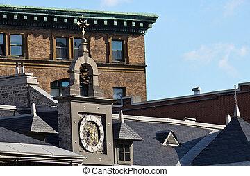 スタイル, カナダ, モントリオール, 屋根, 様々, 建築である