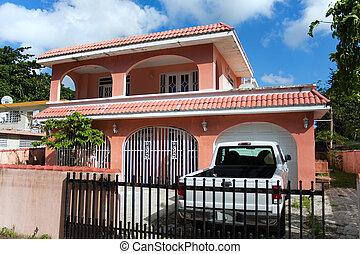 スタイル, カリブ海, 家, コンクリート