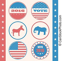 スタイル, キャンペーンボタン, レトロ, 投票, 投票, ∥あるいは∥, 選挙