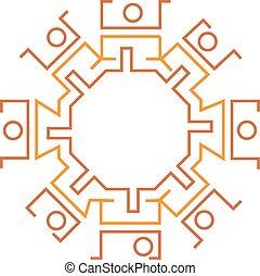 スタイル, グラフィック, positions., mayan, 人々, アメリカ人, hyrogliphics, 様々, 南
