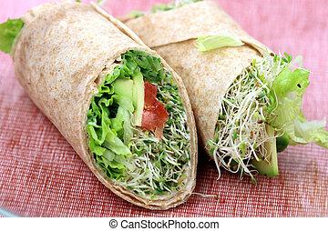 スタイル, サンドイッチ, 包みなさい, 有機体である