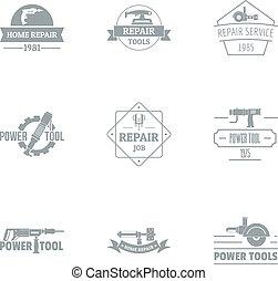 スタイル, セット, 単純である, ロゴ, 住宅改修