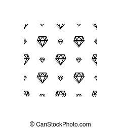 スタイル, ダイヤモンド, 芸術, pattern., seamless, ファッション, 背景, ピクセル