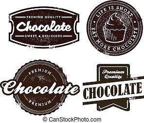 スタイル, チョコレート, 型, 砂漠