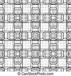 スタイル, テクニカル, 現代, seamless, バックグラウンド。, ブロック, 3d